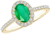 Diana M Fine Jewelry 14K 0.53 Ct. Tw. Diamond & Emerald Ring
