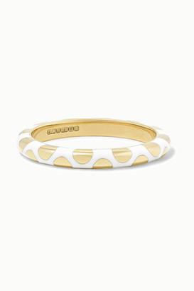 Alice Cicolini Memphis Dot 14-karat Gold And Enamel Ring