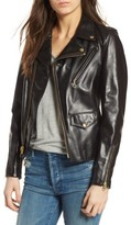 Schott NYC Women's Leather Moto Jacket
