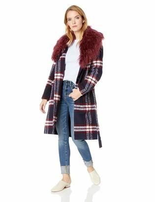 GUESS Women's Long Sleeve Biggie Wrap Coat