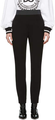 Dolce & Gabbana Black Wool Crepe Band Leggings