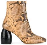 Dries Van Noten side zip ankle boots