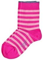 Falke Pink Stripe Short Socks