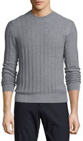 Theory Salins Castellos Merino Wool Crewneck Sweater, Gray