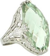 One Kings Lane Vintage Ostby & Barton Prasiolite Filigree Ring