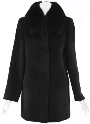 Sofia Cashmere Black Leather Trench coats