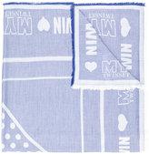 Twin-Set logo print scarf - women - Viscose - One Size
