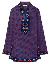 Tory Burch Printed Embellished Tory Tunic