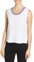 Ming Wang Women's Tipped Scoop Neck Knit Tank