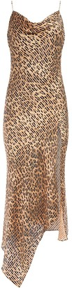 Alice + Olivia Harmony leopard print slip dress