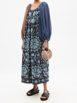 Thumbnail for your product : RIANNA + NINA Patchwork Boat-neck Cotton-canvas And Silk Dress - Multi