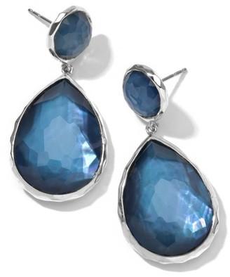 Ippolita Wonderland Sterling Silver & Doublet Teardrop Snowman Post Earrings