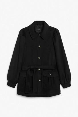 Monki Puff sleeve coat
