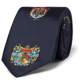 Dolce & Gabbana 6cm Printed Silk-twill Tie - Navy