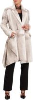 Burnett New York Sheared Mink Asymmetrical Short Coat