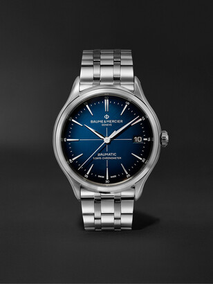 Baume & Mercier Clifton Baumatic Automatic Chronometer 40mm Stainless Steel Watch, Ref. No. M0a10468