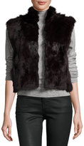 Adrienne Landau Fitted Rabbit Fur Vest, Merlot