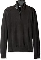 Calvin Klein Men's Quarter Zip Mock Neck Long Sleeve Sweater