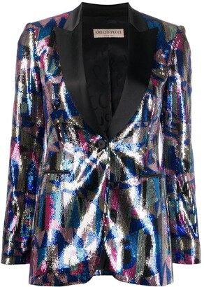 Emilio Pucci Patterned Sequinned Blazer