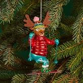 Bloomingdale's Glass Skiing Reindeer Ornament - 100% Exclusive