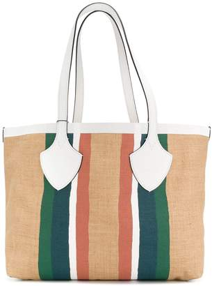 Burberry striped oversized tote