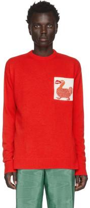 Loewe Red William De Morgan Dodo Sweater