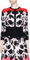 Alexander McQueen Floral jacquard peplum cardigan