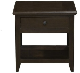 Winston Porter Bradham End Table Color: Iron Ore