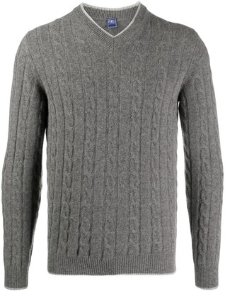 Fedeli Cable-Knit Rib-Trimmed Jumper