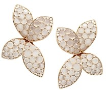 Pasquale Bruni 18K Rose Gold Giardini Segreti Flower Drop Earrings with Diamonds & Moonstone