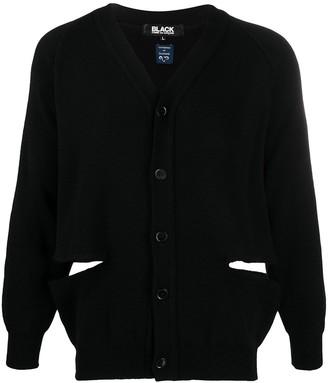 Comme des Garcons Side Slit Buttoned-Front Cardigan