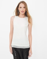 White House Black Market Petite Sleeveless Layering Shell