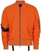 Topman Undead Studios Orange Bomber Jacket*