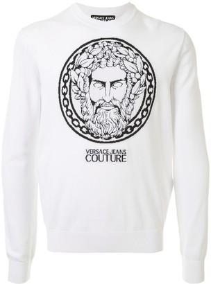 Versace Zeus intarsia sweatshirt