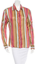 Dolce & Gabbana Striped Button-Up Top