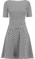 Lela Rose Reversible Gingham Cotton-Blend Dress