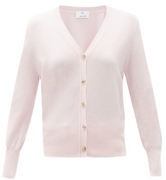 Allude V-neck Wool-blend Cardigan - Pink
