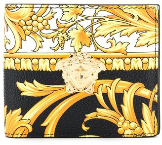 Versace Baroque print bi-fold wallet