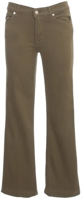 7 For All Mankind Cropped Boot Unrolled Slim Military