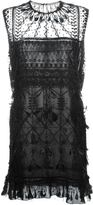 Valentino feather and bead embellished dress - women - Silk/Cotton/Polyamide/Rooster Feathers - 42