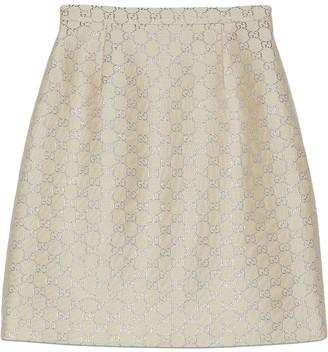 Gucci light lame GG mini skirt