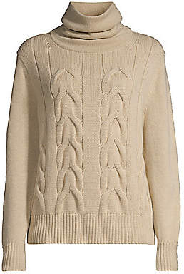 Lafayette 148 New York Women's Oversized Cable-Knit Cashmere Sweater