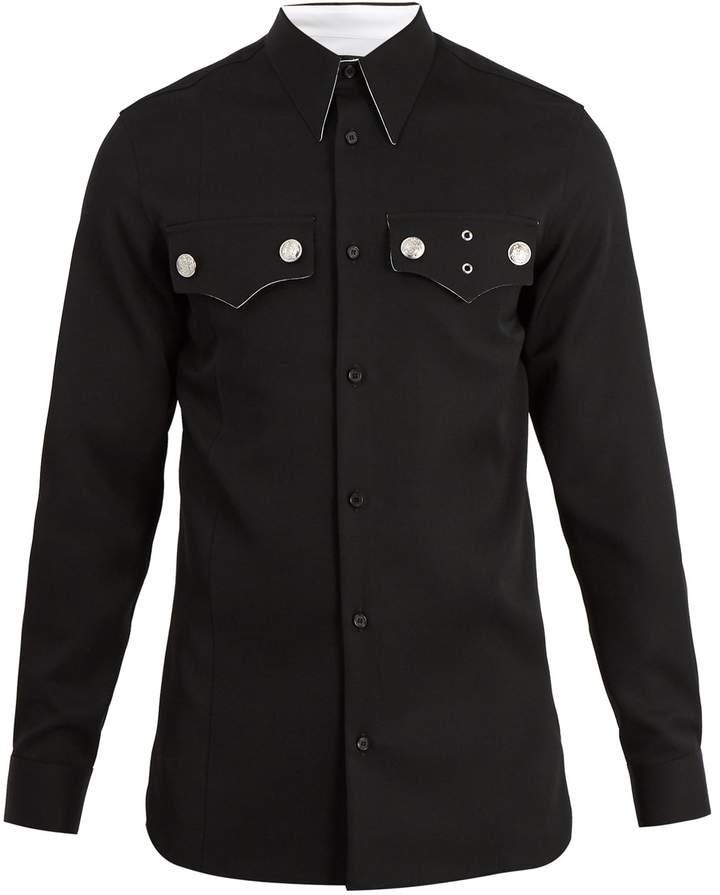 Calvin Klein Western-pocket wool shirt