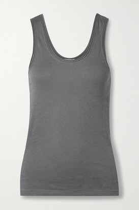 Skin Organic Pima Cotton-jersey Tank - Gray