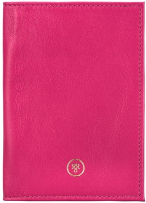 Maxwell Scott Bags Handcrafted Hot Pink Nappa Leather Passport Holder