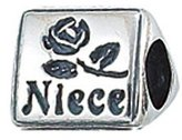 Zable Niece Family Talking Sterling Silver Charm