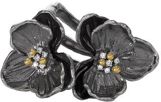 Michael Aram Double Orchid Ring w/ Diamonds, Size 7