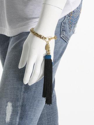 Candace Ang Inc. Long Tassel Bracelet, Black