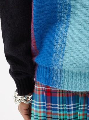 Charles Jeffrey Loverboy Homefront Striped Knit Cardigan - Blue Multi