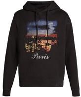 Balenciaga Paris-print hooded sweatshirt